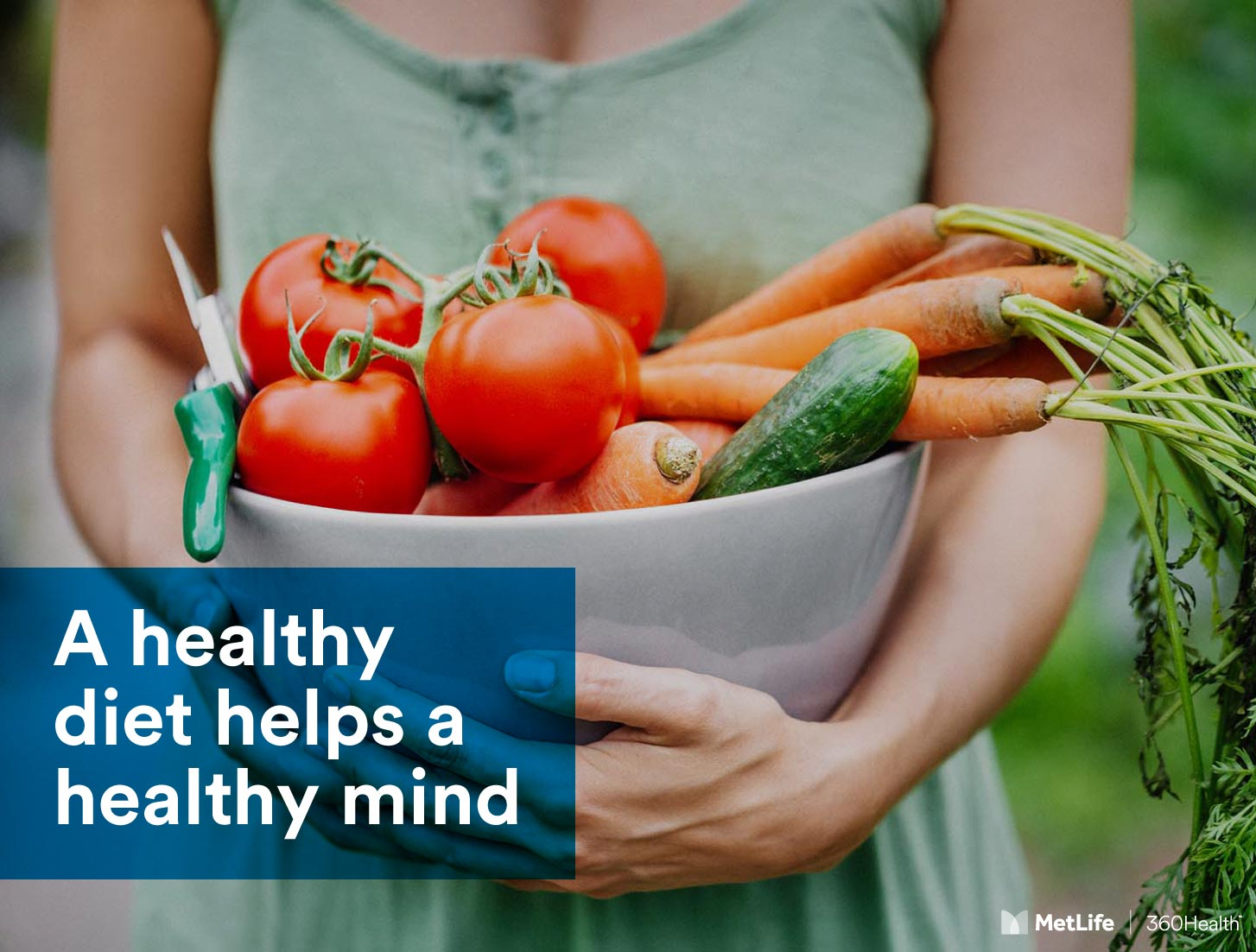 A healthy diet helps a healthy mind